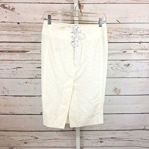 3 for $25 bebe Lace Up Skirt Size 0 white